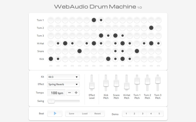 WebAudio Drum Machine