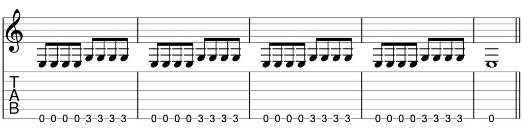 初心者向け練習フレーズ_6弦のみ