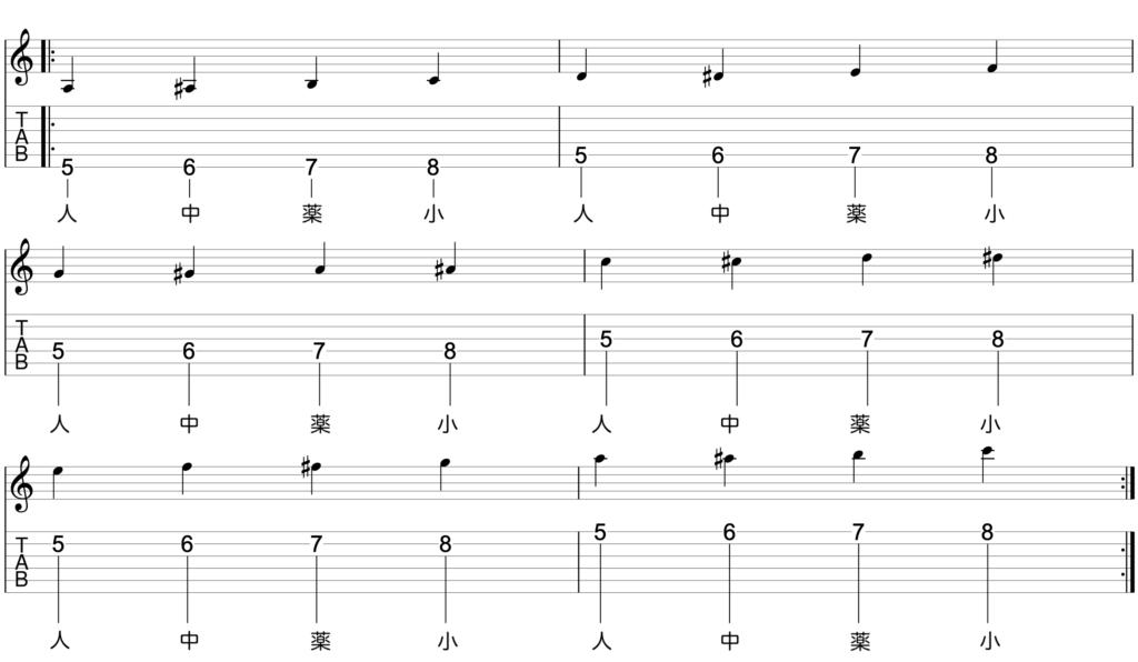 全弦クロマチックトレーニング