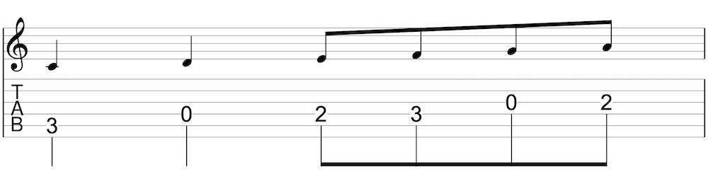 タブ譜と五線譜