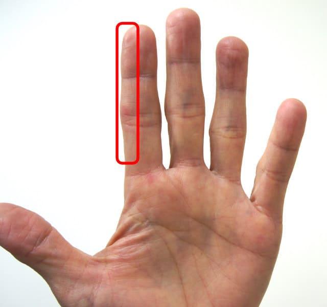 人差し指の側面で