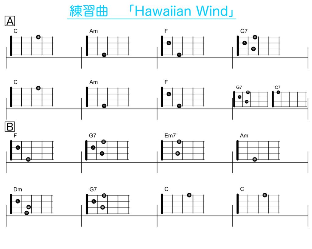 練習曲 Hawaiian Wind 楽譜
