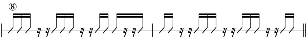 リズムキープテスト8